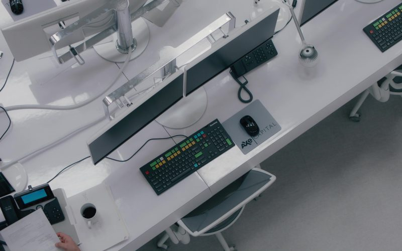 Cisco Phone and Bloomberg Terminals and Keyboard in Billions