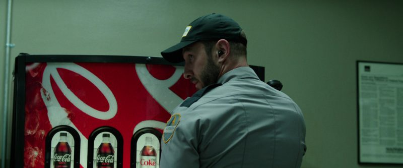 Coca-Cola Vending Machine Used by Pablo Schreiber in Den of Thieves (2018) Movie Product Placement