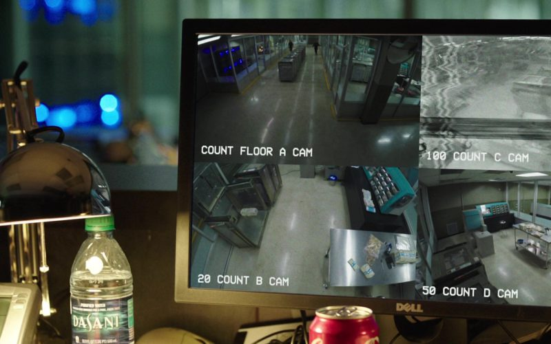 Dasani Water and Dell Monitor in Den of Thieves