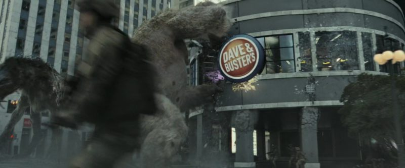 Dave & Buster's Restaurant in Rampage (2018) - Movie Product Placement