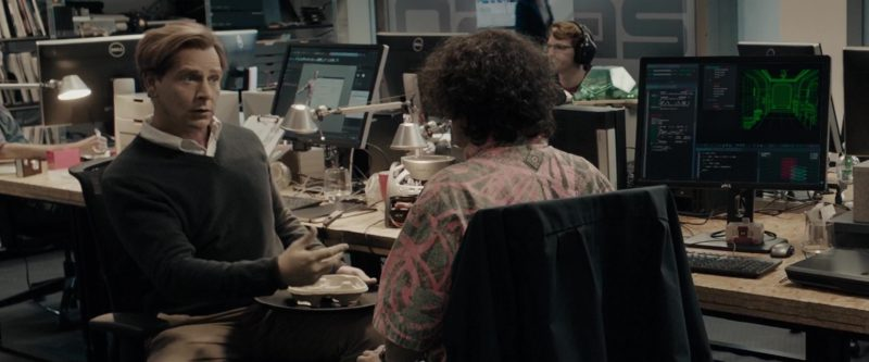 Dell Monitors Used by Ben Mendelsohn (Nolan Sorrento) in Ready Player One (2018) - Movie Product Placement