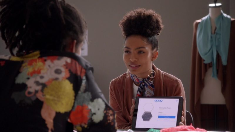 Ebay App Used by Yara Shahidi in Grown-ish: Crew Love (2018) - TV Show Product Placement