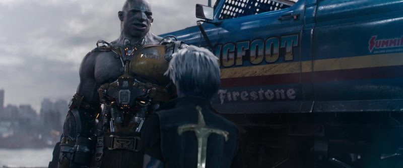Firestone and Summit Racing Equipment Stickers in Ready Player One (2018) Animation Movie Movie Product Placement