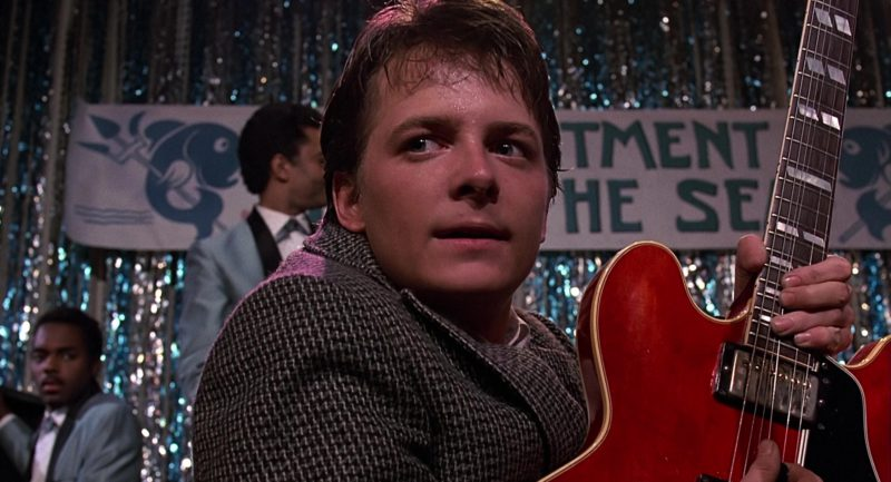 Gibson Guitar Used by Michael J. Fox (Marty McFly) in Back to the Future (1985) - Movie Product Placement