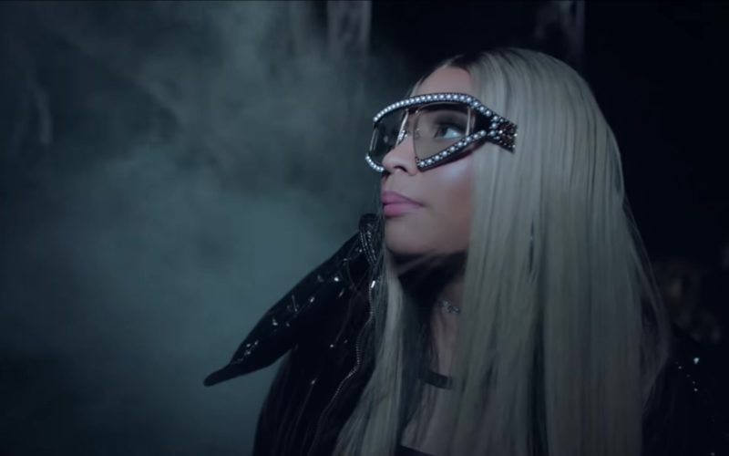 6b5d5b5c66 Gucci Sunglasses Worn by Nicki Minaj in The Light Is Coming by Ariana Grande  (2018)