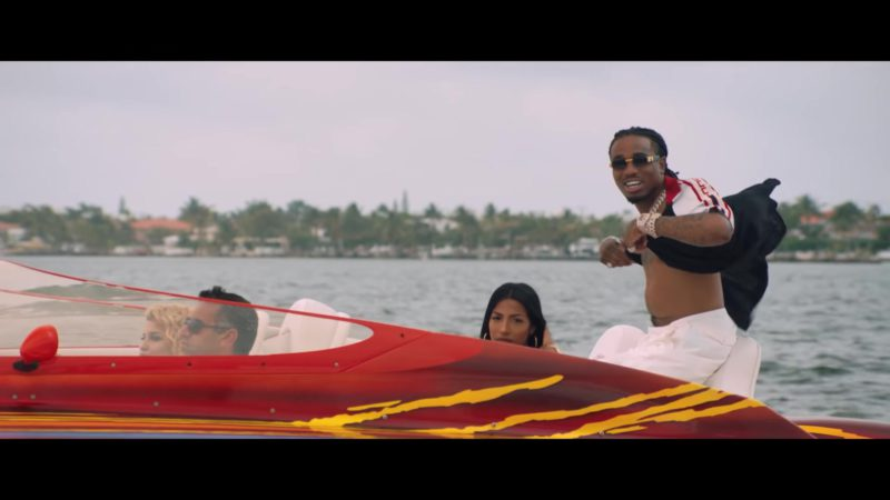 Gucci Sunglasses and Short Sleeve Shirt in Narcos by Migos (2018) - Official Music Video Product Placement