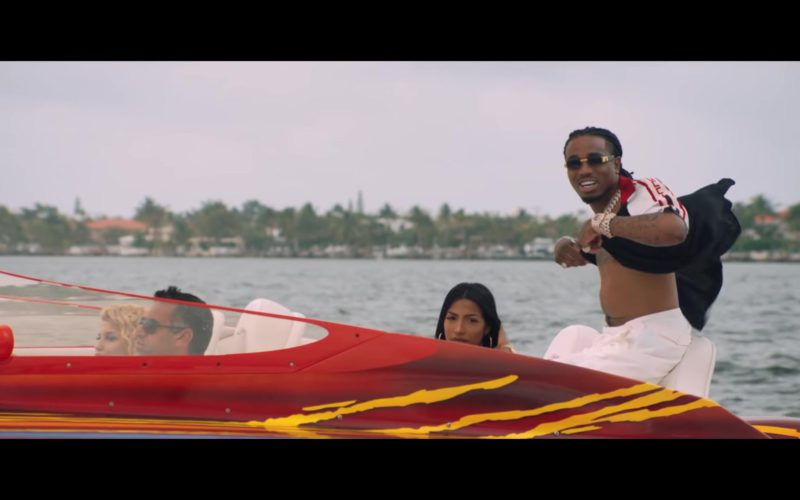 Gucci Sunglasses and Short Sleeve Shirt in Narcos by Migos (1)
