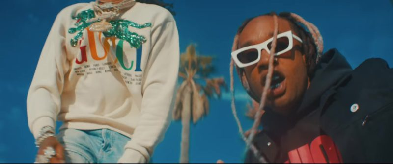 Gucci Sweatshirt Worn by Quavo in Pineapple by Ty Dolla $ign feat. Gucci Mane (2018) - Official Music Video Product Placement