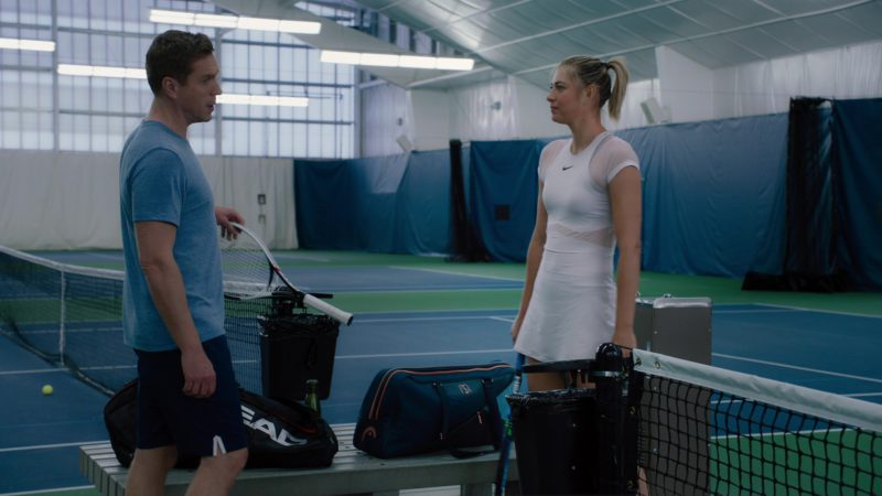 "Head Tennis Racquet Used by Damian Lewis and Tennis Dress Worn by Maria Sharapova in Billions: ""Redemption"" (2018) - TV Show Product Placement"