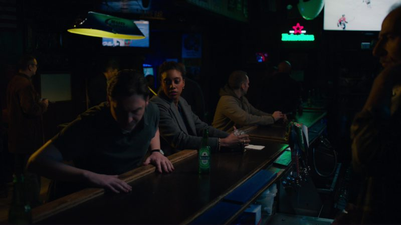"Heineken Light Beer Sign in Billions: ""Icebreaker"" (2018) TV Show Product Placement"
