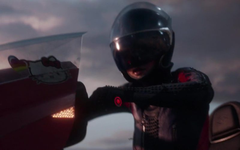 Hello Kitty Sticker On Motorcycle Used by Art3mis (Samantha Evelyn Cook) in Ready Player One (2)