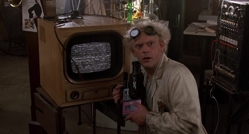 JVC Camcorder Used by Christopher Lloyd (Dr. Emmett Brown) in Back to the Future (1985) - Movie Product Placement