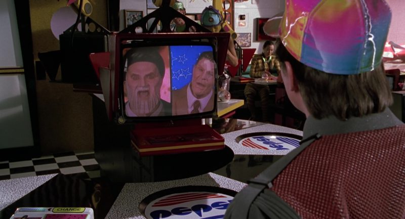 JVC TV and Pepsi in Back to the Future Part 2 (1989) Movie Product Placement