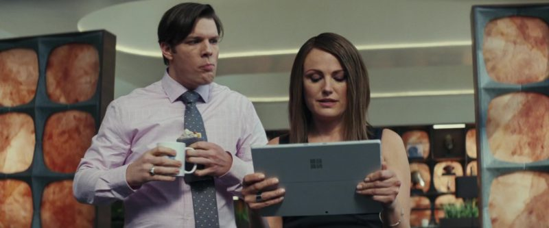 Microsoft Surface Tablet Used by Malin Åkerman in Rampage (2018) - Movie Product Placement