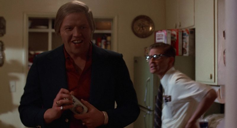 Miller Lite Beer Can Held by Thomas F. Wilson (Biff Tannen) in Back to the Future (1985) - Movie Product Placement