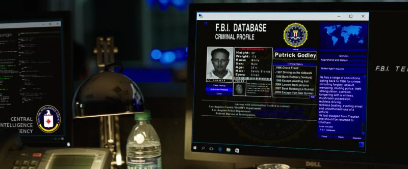 Monitors by DELL in Den of Thieves (2018) - Movie Product Placement