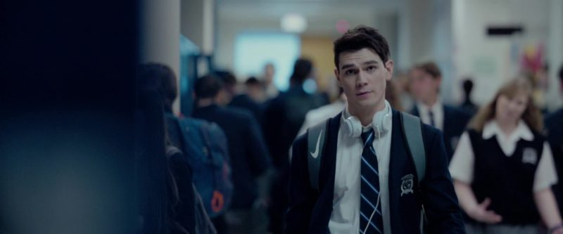 Nike Backpack (Grey) Worn by KJ Apa in The Hate U Give (2018) Movie Product Placement