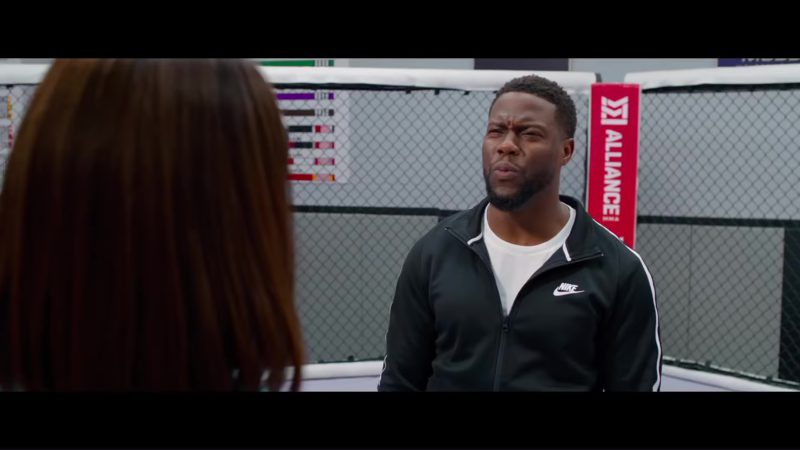 Nike Black Tracksuit Worn by Kevin Hart and Alliance MMA in Night School (2018) Movie Product Placement