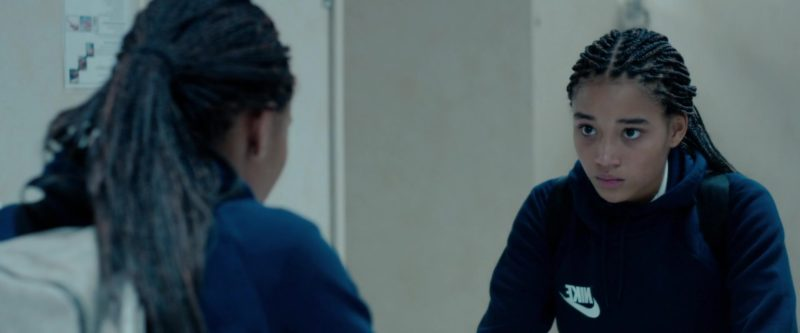 Nike Blue Hoodie Worn by Amandla Stenberg in The Hate U Give (2018) - Movie Product Placement