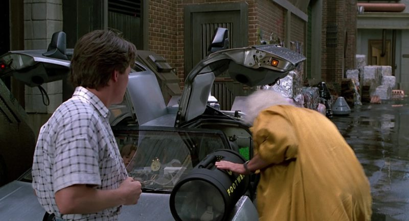 Nike Footwear Bag Used by Christopher Lloyd (Dr. Emmett Brown) in Back to the Future Part 2 (1989) - Movie Product Placement