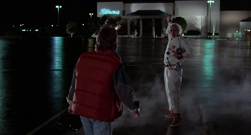 Nike Sneakers (Brown) Worn by Christopher Lloyd (Dr. Emmett Brown) in Back to the Future (1985) Movie Product Placement