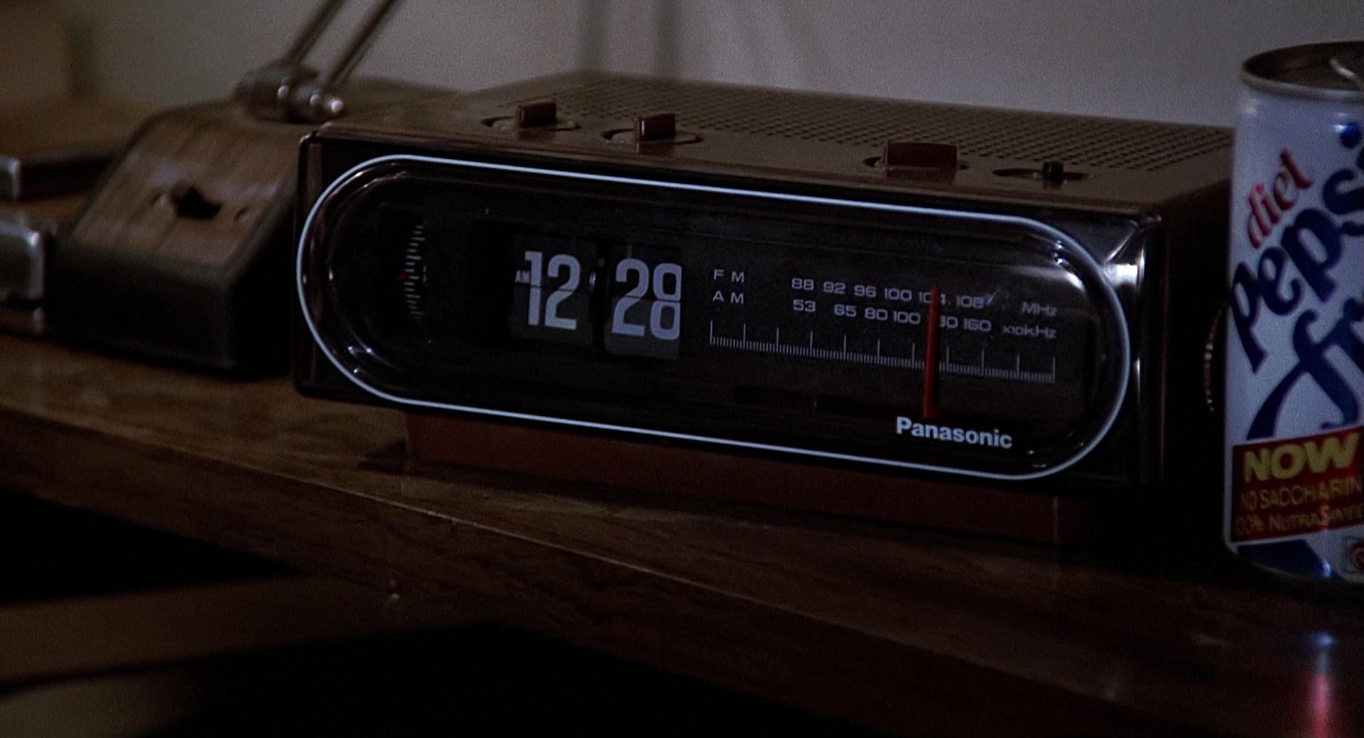 panasonic clock and diet pepsi can in back to the future