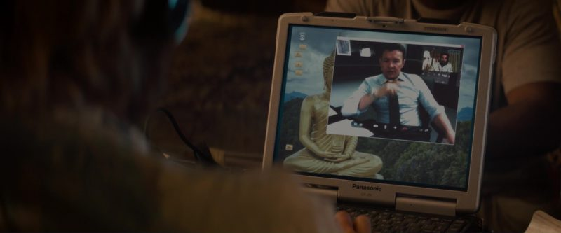 Panasonic Notebook And Skype Used by Sharlto Copley in Gringo (2018) Movie Product Placement