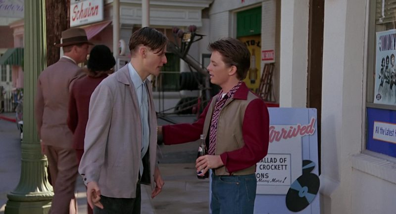 Pepsi Vintage Bottle in Back to the Future (1985) Movie Product Placement