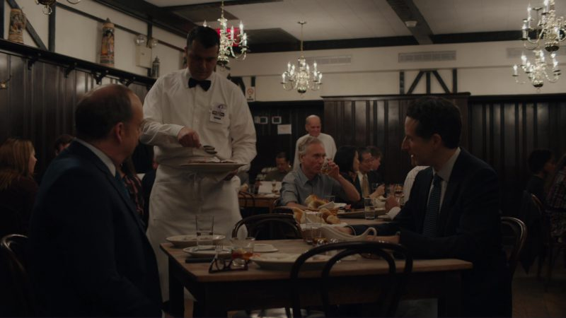 """Peter Luger Steak House in Billions: """"Kompenso"""" (2018) TV Show Product Placement"""