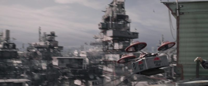 Pizza Hut Drone Delivery in Ready Player One (2018) Movie Product Placement