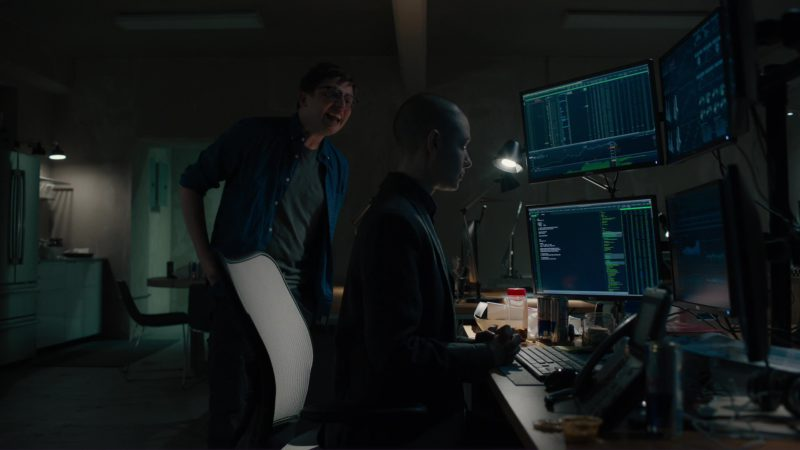 "Red Bull And Dell Monitors Used by Asia Kate Dillon in Billions: ""Kompenso"" (2018) - TV Show Product Placement"