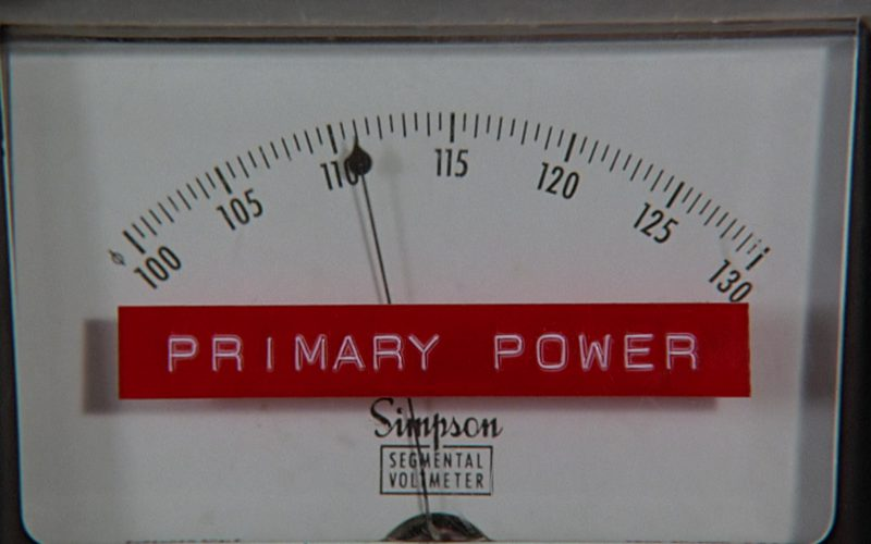 Simpson Segmental Voltmeter in Back to the Future