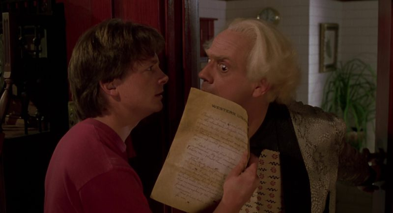 Western Union Letter in Back to the Future Part 3 (1990) Movie Product Placement