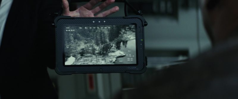 XPLORE Tablet Used by Jeffrey Dean Morgan in Rampage (2018) - Movie Product Placement