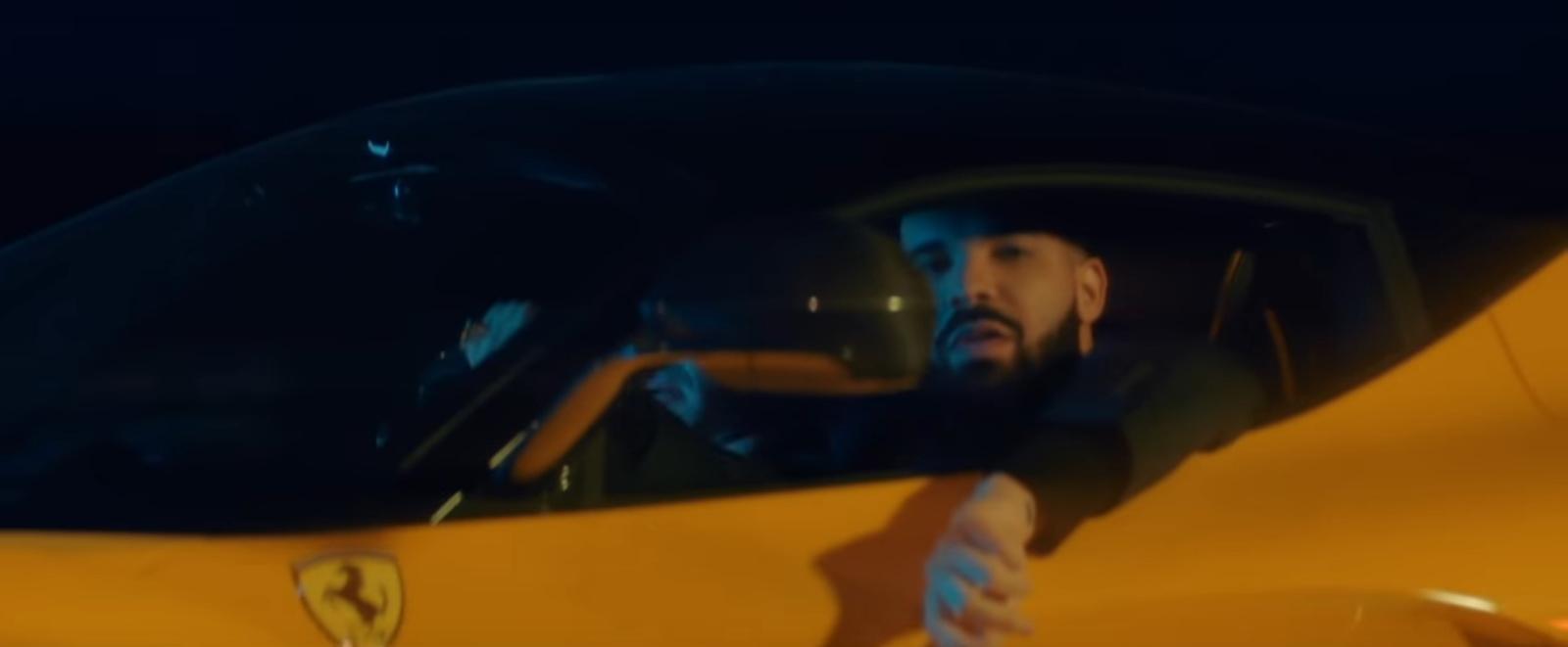 Yellow Laferrari Sports Car Driven By Drake In I M Upset 2018