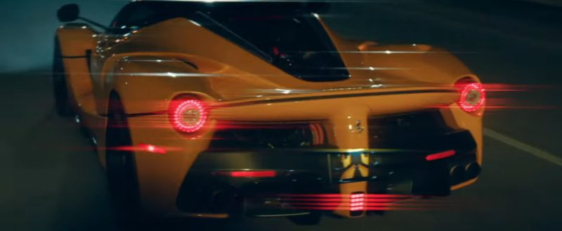 Yellow LaFerrari Sports Car Driven by Drake in I'm Upset (2018) Music Video Product Placement