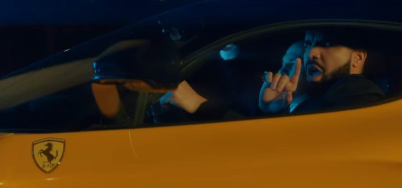 Yellow LaFerrari Sports Car Driven by Drake in I'm Upset (2018) - Official Music Video Product Placement