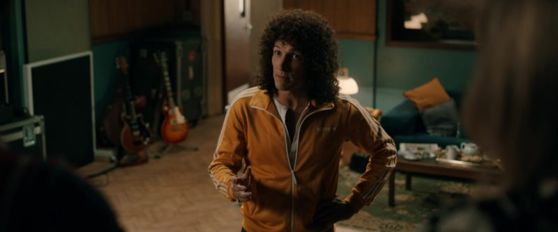 Adidas Jacket (Yellow) Worn by Joseph Mazzello in Bohemian Rhapsody (2018) - Movie Product Placement