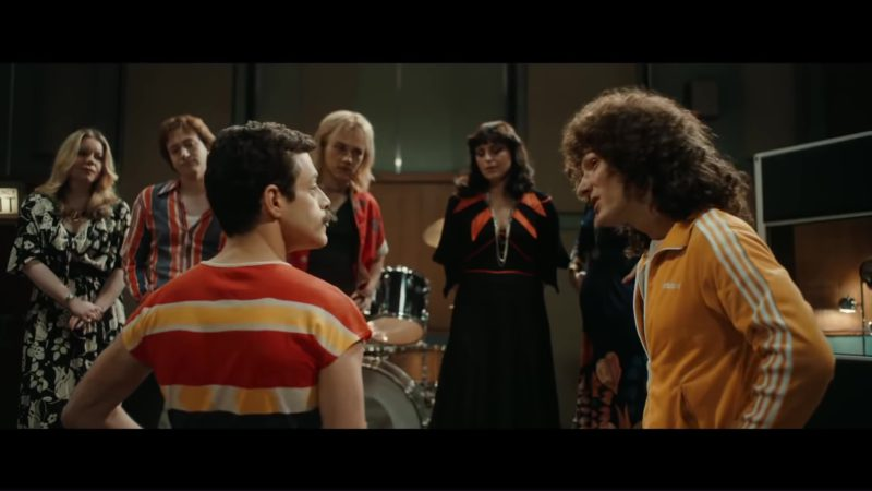 adidas jacket  yellow  worn by joseph mazzello in bohemian rhapsody  2018  movie