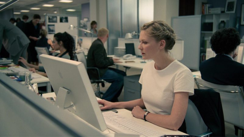Apple Cinema Display Used by Kirsten Dunst in How to Lose Friends & Alienate People (2008) Movie Product Placement