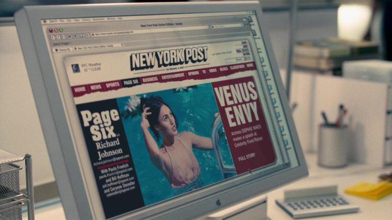 Apple Cinema Display and New York Post in How to Lose Friends & Alienate People (2008) Movie Product Placement