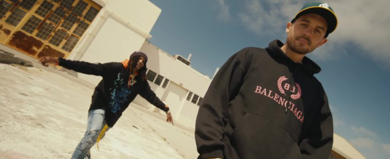 """Balenciaga Black Hoodie Worn by G-Eazy in """"Power"""" ft. Nef The Pharaoh, P-Lo (2018) - Official Music Video Product Placement"""