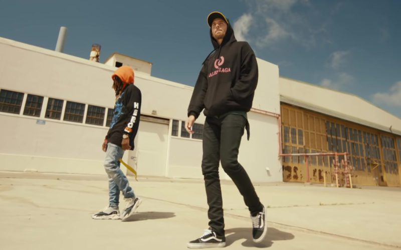 "Balenciaga Black Hoodie and Vans Shoes Worn by G-Eazy in ""Power"" (3)"