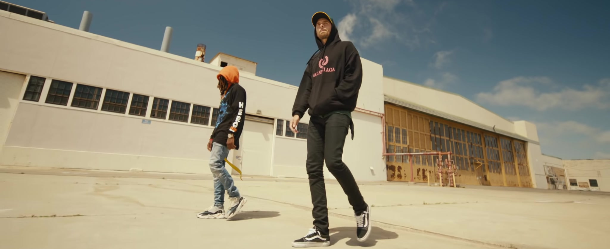 """ae9a1163b9 Balenciaga Hoodie and Vans Shoes Worn by G-Eazy in """"Power"""" (2018 ..."""