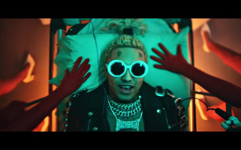 Chanel Sunglasses (White, Round Frames) Worn by Lil Pump (1)