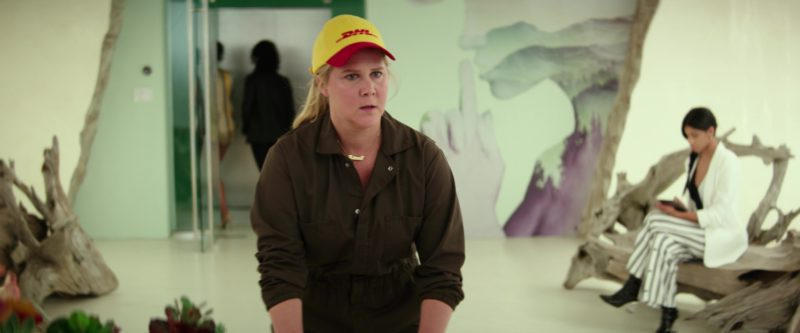 DHL Cap Worn Amy Schumer in I Feel Pretty (2018) Movie Product Placement