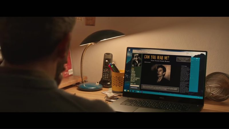 Dell Notebook Used by Chris O'Dowd in Juliet, Naked (2018) Movie Product Placement