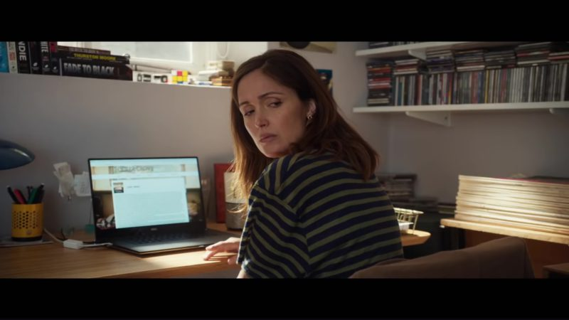 Dell Laptop Used by Rose Byrne in Juliet, Naked (2018) Movie Product Placement