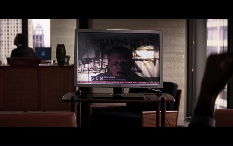 Dell TV Used by Morgan Freeman (Lucius Fox) in The Dark Knight