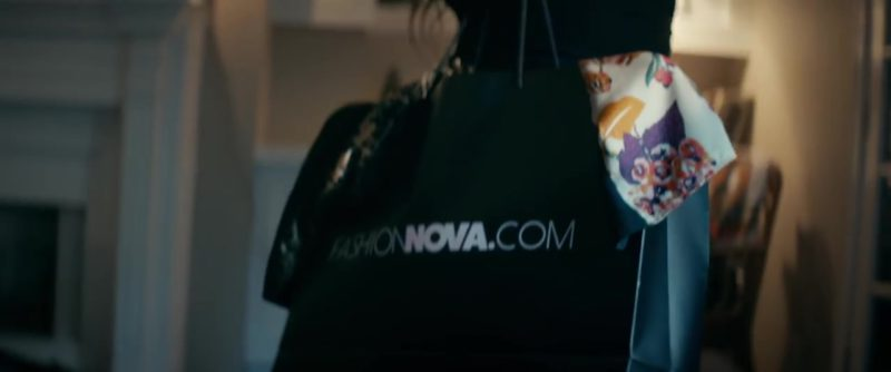 "FashionNova.com Online Store Paper Bag in ""Zooted"" by Becky G ft. French Montana, Farruko (2018) - Official Music Video Product Placement"